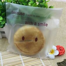 Xmas Thin Plastic Cello Cookie Bag Smiley Face Candy Bags Self Adhesive