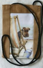 WELSH TERRIER DOG FABRIC PHONE/GLASSES POUCH SANDRA COEN ARTIST PRINT HANDMADE