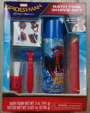 Spiderman Homecoming Bath Time Shave Set Boys Kids Toddler Pretend Marvel