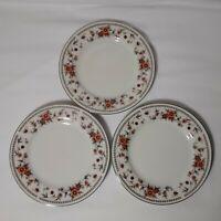 "Sheffield Porcelain Fine China Anniversary Dessert/Salad Plate 6.5"" Set of 3"