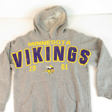Minnesota Vikings Youth Large Spell Out Heather Gray Hoodie - Hooded  Sweatshirt e4a75b782