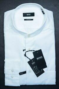 Hugo Boss $278 Frans Men Relaxed Thomas Mason Superfine Soft Line Shirt 42 16.5