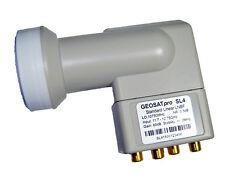 GEOSATpro SL4 QUAD Output Standard 10750 Linear Ku Satellite LNB LNBF 60db Gain