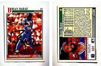 Brian McRae Signed 1991 Score #331 Card Kansas City Royals Auto Autograph