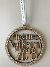 Personalised Engraved Christmas Bauble Decoration 1st Christmas As Mr & Mrs
