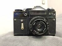 Vintage Camera Zenit ET + Industar 50-2 3.5/50 M42 USSR