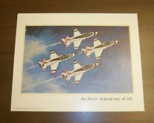 """BICENTENNIAL THEMED """"THUNDERBIRDS"""" AIR FORCE RECRUITING PICTURE 1977"""
