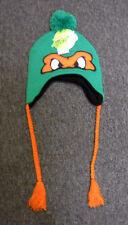 NWT Nickelodeon Teenage Mutant Ninja Turtles MICHELANGELO laplander beanie w/POM