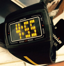 SINAR NEW DIGITAL UNISEX AVIATOR WATCH WITH RESIN BAND 12/24 HOUR DISPLAY LED