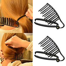 Magic Lady DIY Hair Styling Updo Bun Comb Clip Sets For Hair French Twist Makers