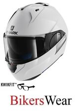 SHARK EVO-ONE 2 BLANK WHU FlipUp modular Motorcycle Motorbike Helmet- White ZQ
