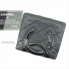 cb000a83112773 Chanel Wallet Purse Coin purse Cambon line Black Pink Woman Authentic Used  T6537