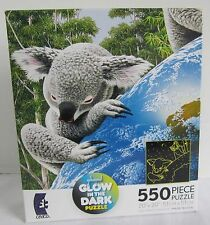 Ceaco 550 Piece Jigsaw Puzzle The Greatest Love Koala Bear Earth Glow in Dark