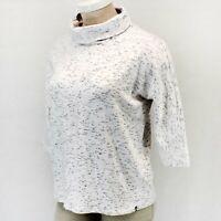 Talbots Plus Size Ivory/Black Turtle Neck Fall Winter Top Sweater 3X