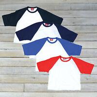 Womens Retro Cropped Baseball T Shirt Tee S M L