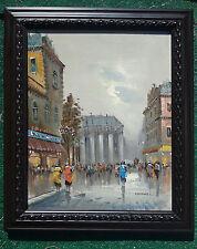 """PARIS FRANCE Artist MARCHAND Original Vintage Mid-Century Oil Painting 21""""X25"""""""