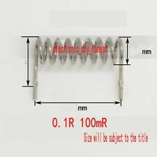 5pcs Constantan resistor sampling resistor 0.1R 100mR pitch 15mm diameter 1mm