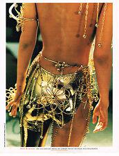 PUBLICITE ADVERTISING 035  1996  PACO RABANNE haute couture alliage OR & métal