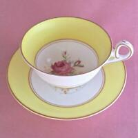 VINTAGE OLD ROYAL BONE CHINA WETLEY ROSE CUP AND SAUCER #2977