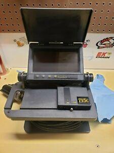 """Used Aqua Vu Av 715C Underwater Viewing System Color Video Camera & 7"""" Lcd"""