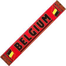 """ECHARPE BELGIQUE BELGIUM """"DIABLES ROUGES"""" scarf no fanion drapeau maillot ..."""