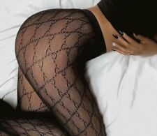 Brand New Best Quality GG Black Tights Hosiery High Waisted Fishnet