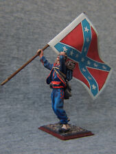American Civil War. Zouaves with a banner South. Elite tin soldiers 54 mm