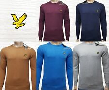 LYLE & SCOTT LONG SLEEVE CREW NECK COTTON MERINO JUMPER
