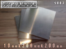 10mm Aluminium Plates / Sheets 200mm x 200mm - 5083