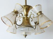 MAGNIFIQUE PLAFONNIER 4 DIABOLOS 1950 VINTAGE ROCKABILLY 50S FRENCH CHANDELIER