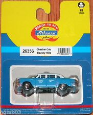 ATHEARN 26356 CHECKER CAB TAXI BEVERLY HILLS BLUE