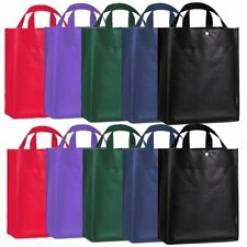 8 Colors Reusable Grocery Shopping Bags Non Woven Promotional Tote Bags Favors