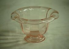 Old Vintage Pink Depression Glass Sundae for 2 Bowl Panel Ribbed Sides Curved