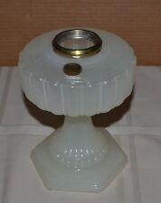 #110 Aladdin White Moonstone Cathedral Kerosene Lamp Base - Crack on Bottom 1934