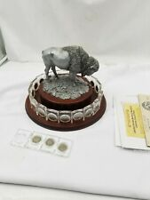 Danbury Mint United States Buffalo Nickels Crystal Collection