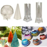 Gift DIY Craft Clay Tools Plastic Round/Hexagonal/Cone Candle Mold Handmade Soap