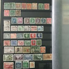 #285 Canada mixed postal stamps from collection