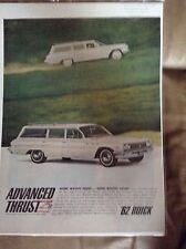 Original 1962 Buick Invicta Estate Wagon Magazine Ad - Advanced Thrust