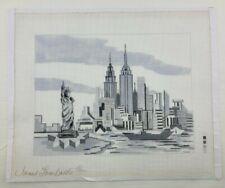 New ListingNew York City Needlepoint Canvas Janet Lombardo Hand Painted