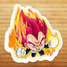 Dragon Super Saiyan God Vegeta Chibi Die Cut Wall Car Window Decal Sticker