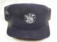 NOS Vintage S&W Smith & Wesson Embroidered Hat One Size Made in USA Navy Blue