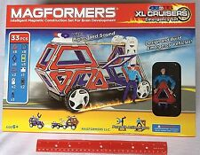 Magformers 63079 XL Cruisers Emergency Set Magnetic Building Toy 6+ NEW 33 Pcs.