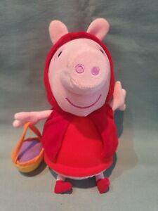 "Little Red Riding Hood Peppa Pig 10"" Plush Soft Toy Teddy GC"