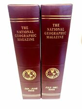 NATIONAL GEOGRAPHIC MAGAZINE Holder-Case-Covers-Binder for 2002-LOT OF 2-Padded