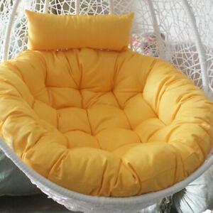 "Patio Hanging Swing Egg Chair Cushion Large Round Papasan Pad /Cushion Cover 41"""