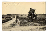 c.1912 Antique RPPC Real Photo Postcard Country Scene Pitt County NC Farm Road