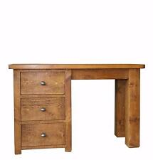 Rustic Plank Pine Furniture New Real Solid Wooden Desk Draws Dressing Table