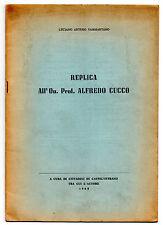 Luciano Arturo Sammartano, Replica all'On.Alfredo Cucco, Cittadini Castelvetrano