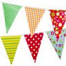 Bunting Shabby Chic 20 Flag 10m Vintage Garden Birthday Wedding Floral Check Dot