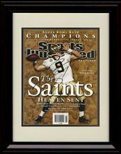 Framed Drew Brees SI Autograph Replica Print - New Orleans Saints - Champs!